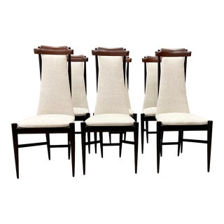 Sergio Rodrigues for Isa Bergamo Chairs Circa 1950s - Set of 6 For Sale