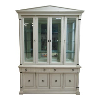 Lineage by Drexel Heritage Neo Classical Breakfront China Cabinet For Sale