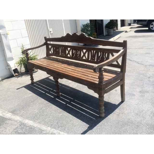 Early 20th-C. Colonial Bench - Image 5 of 9