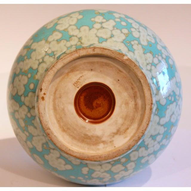 Japanese Studio Porcelain Antique Old Crystalline Sky Blue Hu Form Vase For Sale In New York - Image 6 of 12