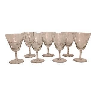 Rosenthal Crystal Glasses - Set of 7 For Sale