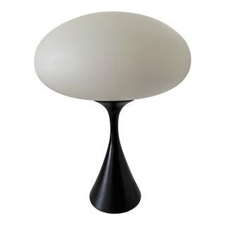 Mid Century Laurel Style Black Metal Base Table Lamp For Sale