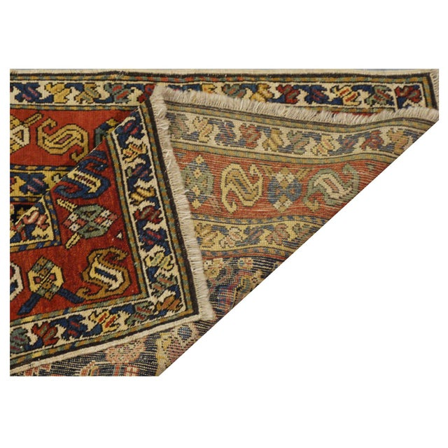 """Traditional Caucasian Wool Rug - 3'3"""" x 4'8"""" For Sale - Image 4 of 5"""
