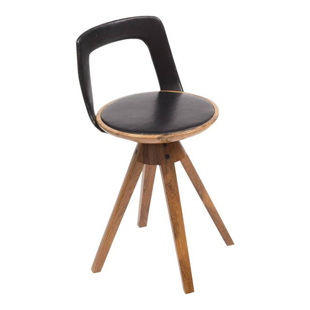 Tove and Edvard Kindt-Larsen Swivel Stool in Rosewood, 1957 For Sale