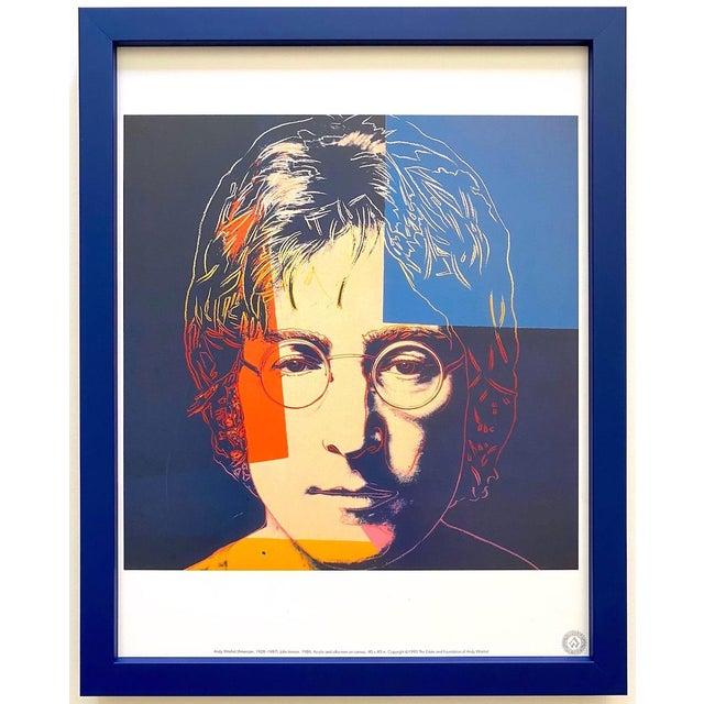 """Andy Warhol Estate Vintage 1990 Framed Pop Art Lithograph Print """" John Lennon """" 1986 For Sale - Image 13 of 13"""