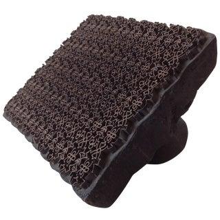 Wood & Metal Handblock Batik Textile Printing Tool For Sale