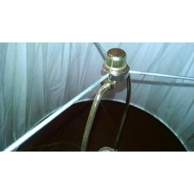 Aqua & White Ceramic Table Lamp - Image 5 of 7