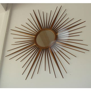 Vintage Chaty Vallauris Signed French Sunburst Mirror Preview