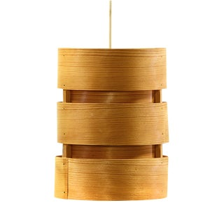 "Hans-Agne Jakobsson Pine Veneer Pendant Light T355 ""Berse"" For Sale"