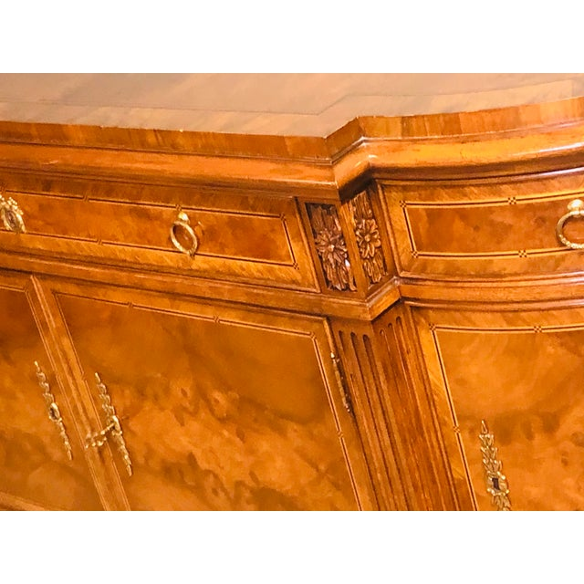 Brown Karges Furniture French Walnut Louis XVI Style Sideboard For Sale - Image 8 of 13