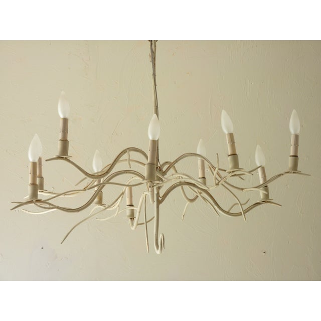 20th Century Iron Chandelier in the form of tree branches with 10 lights, each can take up to 40 watt candelabra bulb,...