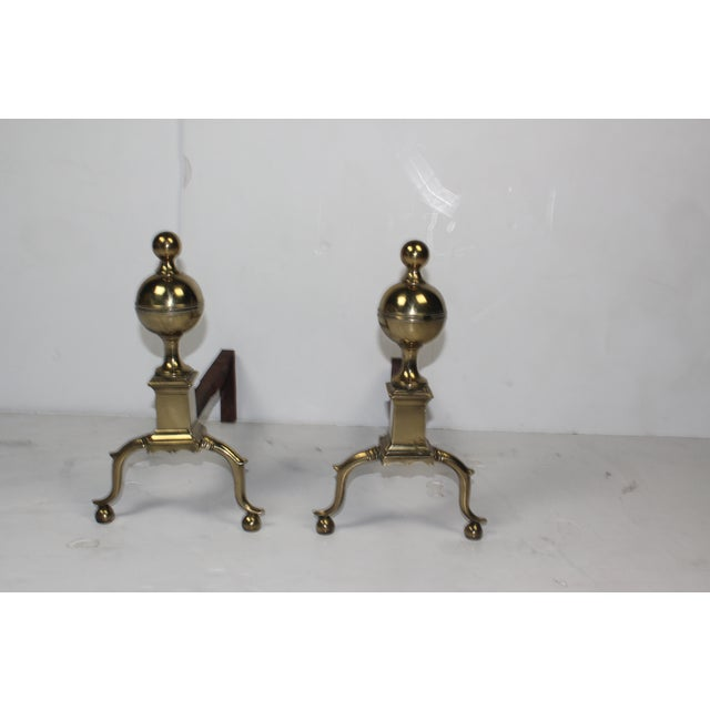 19th-C English Andirons - A Pair - Image 4 of 4