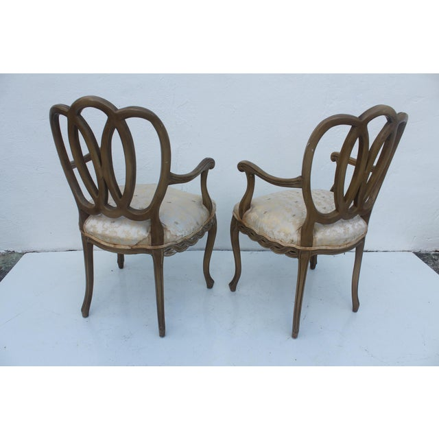 Hollywood Regency Dorothy Draper Style Arm Chairs- A Pair - Image 9 of 11