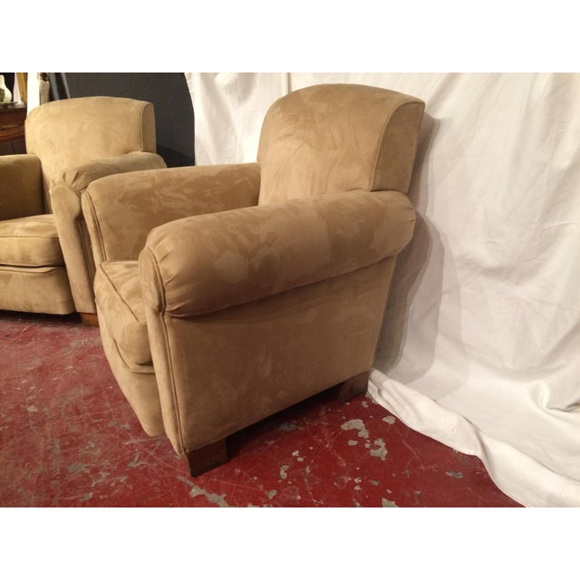 Art Deco French Art Deco Club Chairs - A Pair For Sale - Image 3 of 6
