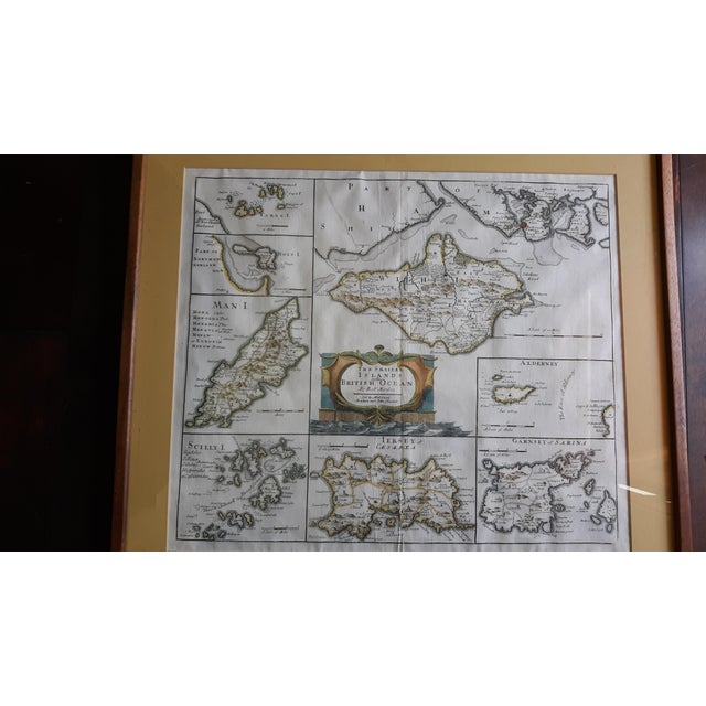 """Mediterranean Antique Map """"The Smaller Islands of Great Britain"""" by Rob Morden For Sale - Image 3 of 5"""