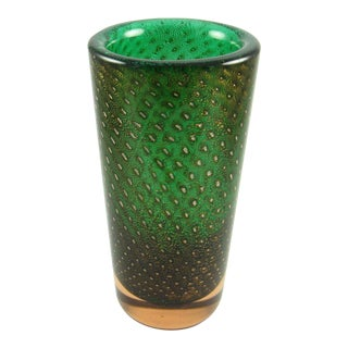 Mid-Century Murano Art Glass Vase For Sale