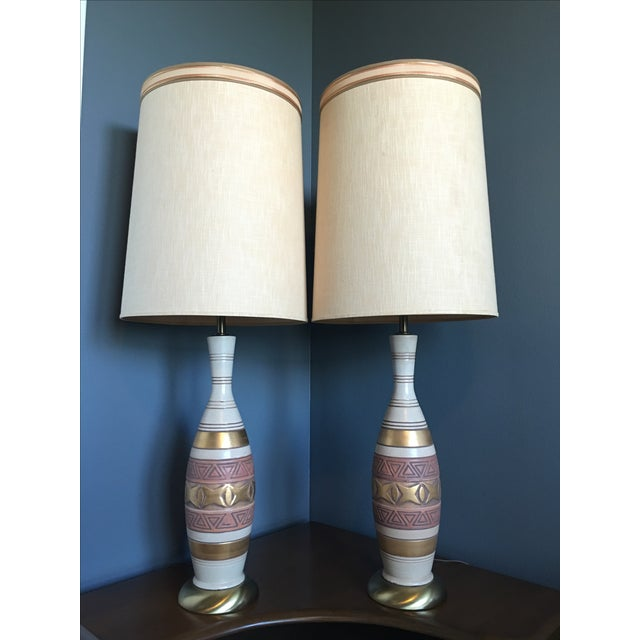 Mid-Century Palm Springs Estate Table Lamps - Pair - Image 2 of 7
