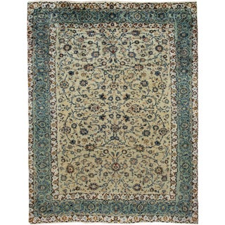 "Vintage Persian Kashan Rug, 9'09"" X 12'04"" For Sale"