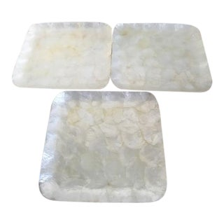 Mother of Pearl Serving Plates - Set of 3