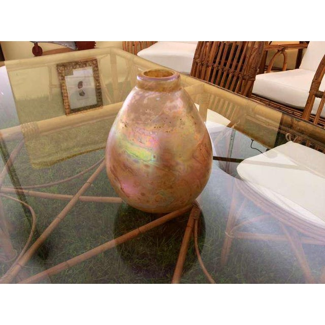 Art Glass Robert Eicholt Glass Vase For Sale - Image 7 of 7