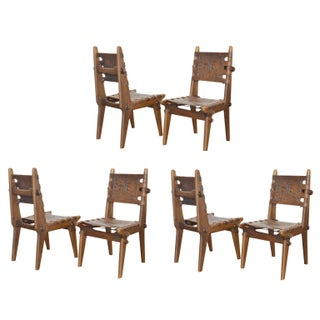 Ecuadorian Dining Chairs by Angel Pazmino, 1960's - Set of 6 For Sale