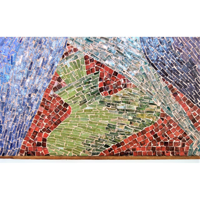 Cubist Glass Mosaic Wall Sculpture -- Mid Century Modern MCM Boho Chic Cottage Abstract Expressionism Folk Art - Image 4 of 11