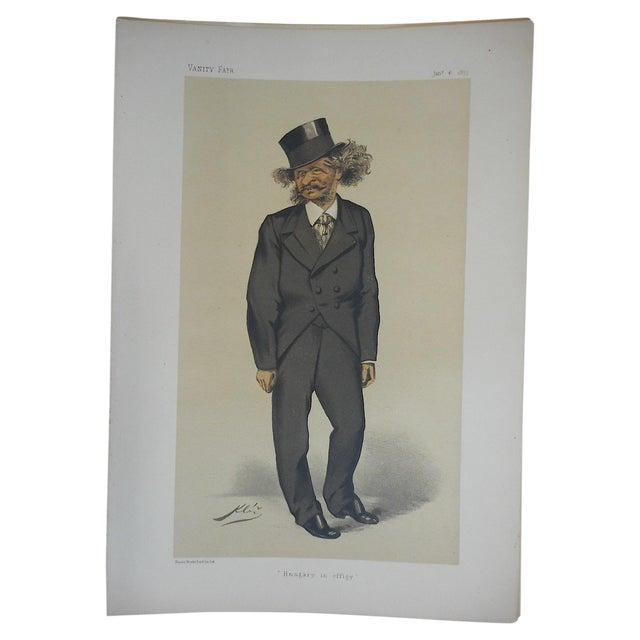 Folio Size Antique Vanity Fair Lithograph For Sale