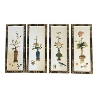 Early 20th Century Asian Wall Panels - Set of 4 For Sale