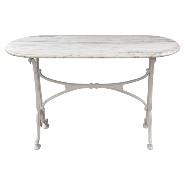 Early 20th Century French Marble Top Bistro Table For Sale