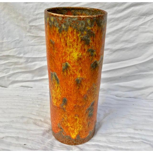 Royal Haeger Brutalist Orange Peel Lava Glaze Art Pottery Vase