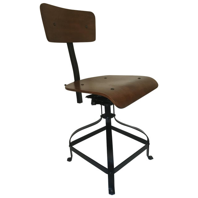 Vintage Toledo-Style Industrial Chair - Image 1 of 5