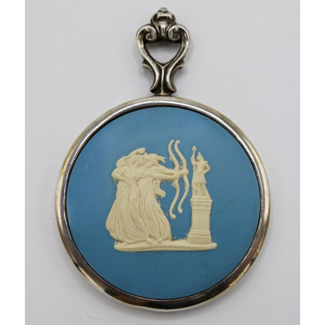 Early 20th Century Jasperware Style Sterling Silver Wedgewood Purse Mirror For Sale - Image 5 of 8
