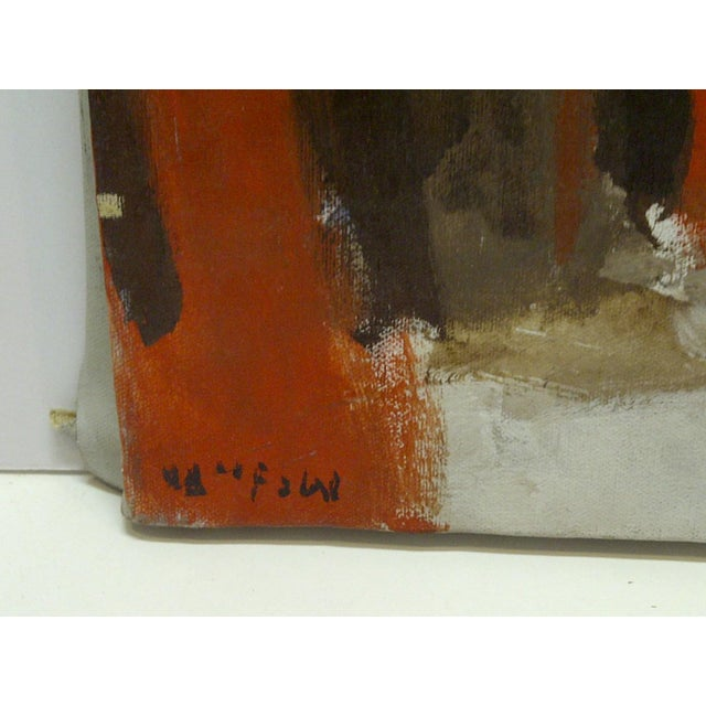 """Mid 20th Century 20th Century Contemporary Original Framed Painting on Canvas, """"Red Explosion"""" by Frederick McDuff For Sale - Image 5 of 6"""