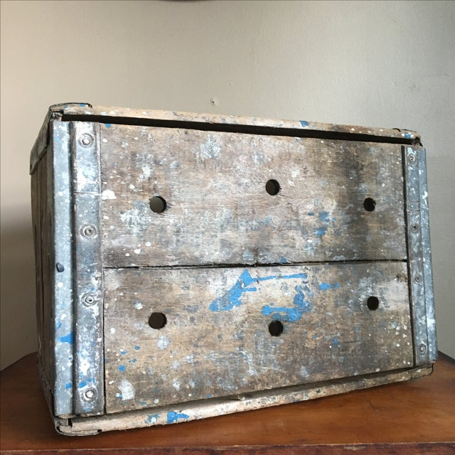 Antique Wooden Borden's NY Milk Crate For Sale In New York - Image 6 of 7