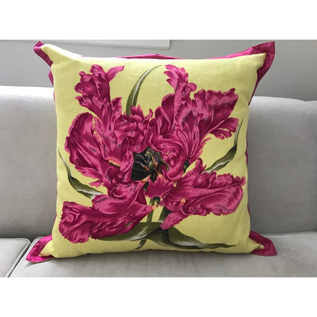 Jim Thompson Floral Pillow - Image 4 of 4