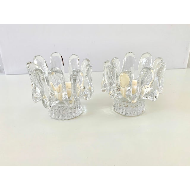 White 1970s Kosta Boda Candle Holders - a Pair For Sale - Image 8 of 11