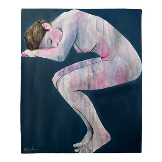 """Pink Sleeping Woman"" Geoff Greene Painting For Sale"