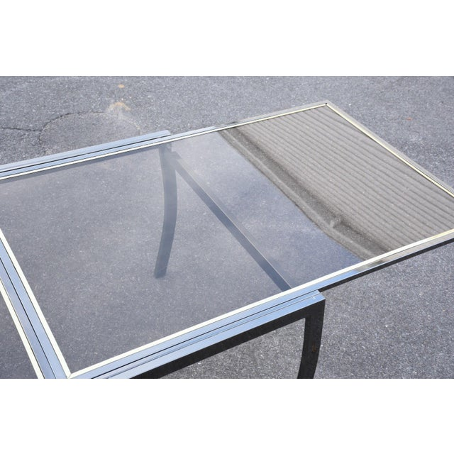 Dia Gunmetal Chrome Modern Dining Table For Sale - Image 9 of 11