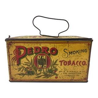 Kimball & Co. American Tobacco Tin Can Box Circa 1900 For Sale