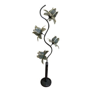 Vintage 1980's Lucite Flower Floor Lamp For Sale
