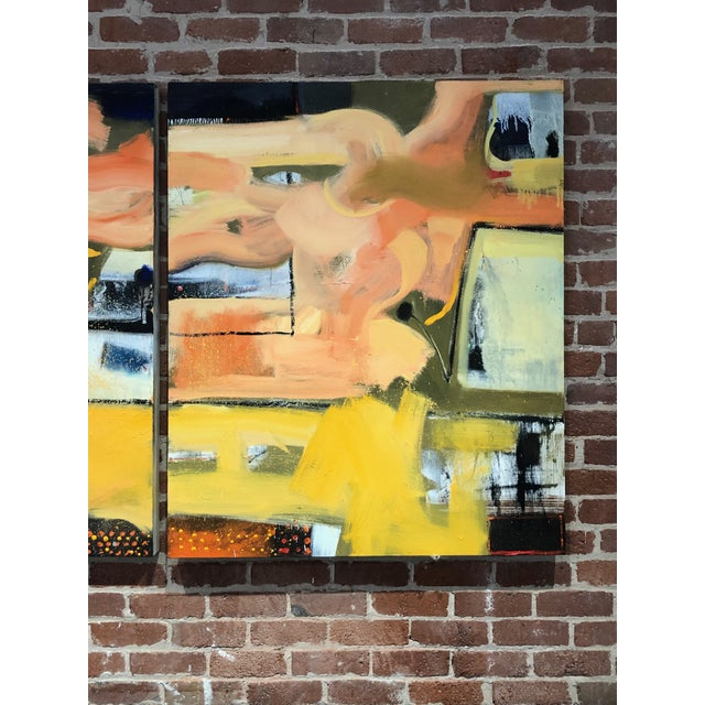 Abstract Original Abstract Diptych Painting - 2 Pieces For Sale - Image 3 of 5
