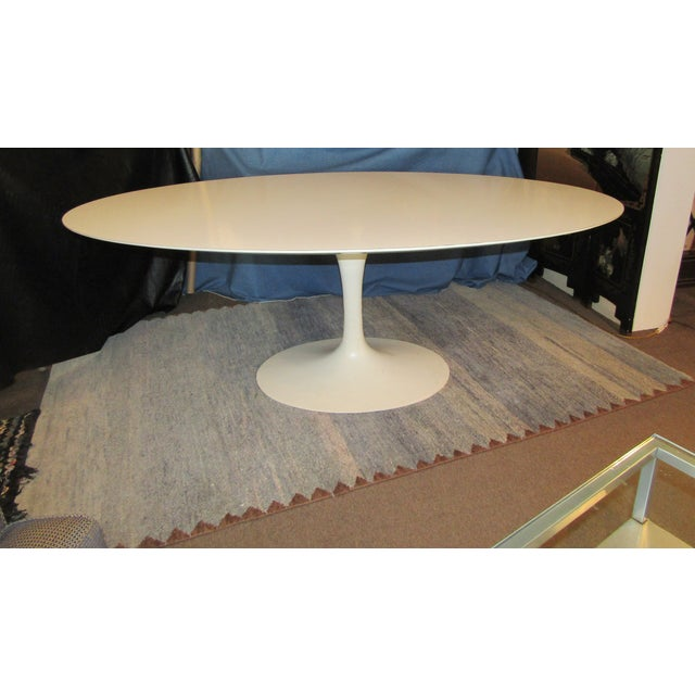 Wood Authentic VIntage Knoll Saarinen Oval Tulip Base Dining Table For Sale - Image 7 of 7