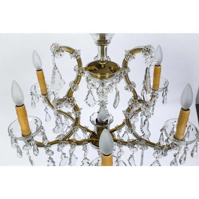 1920s Maria Theresa Style Crystal Seven-Light Chandelier For Sale - Image 4 of 13