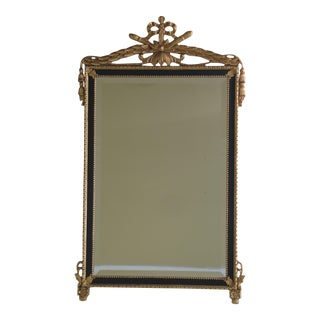 Friedman Brothers Black & Gold Regency Mirror For Sale