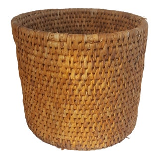 Boho Chic Natural Woven Basket Planter For Sale