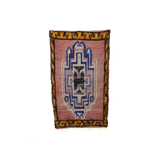 1970s 1970s Vintage Moroccan Boujad Rug - 3′4″ × 5′7″ For Sale - Image 5 of 5