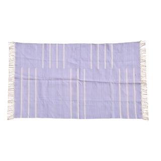 Lavendar Rug, 4x6, Violet & White For Sale