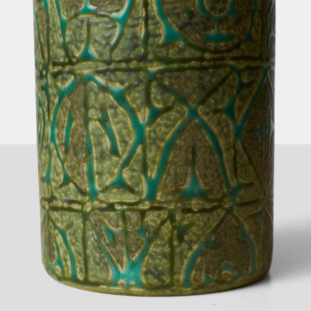1950s Nils Thorsson ceramic jar with lid For Sale - Image 5 of 6