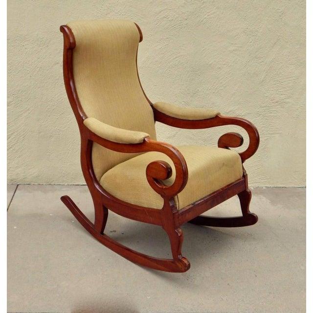19th Century 19th Century Antique Swedish Biedermeier Rocking Chair For Sale - Image 5 of 13