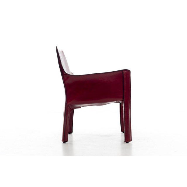 Red Mario Bellini Cab Lounge Chairs For Sale - Image 8 of 11